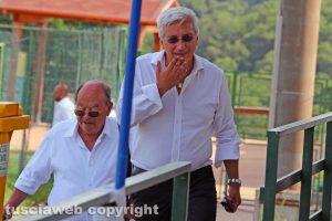 Sport - Calcio - Viterbese - Marco Romano in tribuna a Canepina