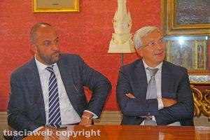 Sport - Calcio - Viterbese - Il presidente Romano e il direttore generale Foresti
