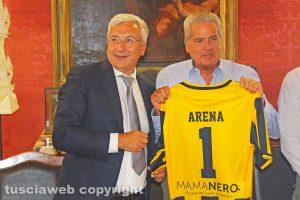 Sport - Calcio - Viterbese - Il presidente Romano e il sindaco Arena