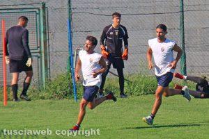 Sport - Calcio - Viterbese - L'allenamento di ieri - Palermo e Pacilli