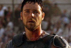 "Russel Crowe nel ""Gladiatore"""