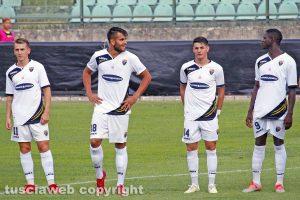 Sport - Calcio - Viterbese - Da sinistra: Vandeputte, Volpe, Errico e Tounkara