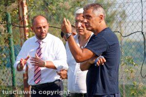 Sport - Calcio - Viterbese - Giovanni Lopez, Marco Romano e Diego Foresti