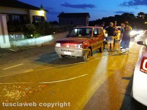 Montefiascone - L'incidente stradale sulla Verentana