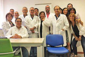 Viterbo - Il dottor Roberto Abbatangelo e i colleghi del centro medico legale Inps