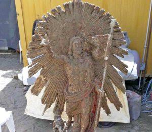 La statua del Cristo Risorto recuperata dai fondali