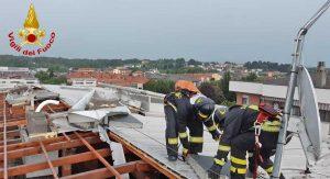 Maltempo - Intervento dei vigili del fuoco in Lombardia