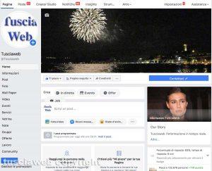 La pagina Facebook di Tusciaweb