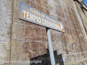Viterbo - Cimitero San Lazzaro - Tempio crematorio - L'indicazione