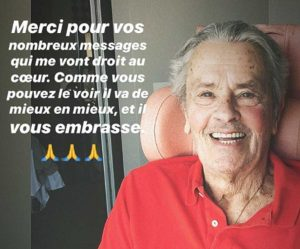Svizzera - Alain Delon, prima foto dopo il malore