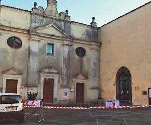 Valentano - La facciata della chiesa del santissimo Rosario prima della ristrutturazione