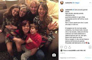 Brescia - Il post su Instagram della famiglia di Nadia Toffa per ricordare la storica inviata delle Iene