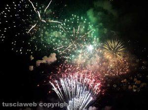 I fuochi d'artificio sul lago di Bolsena