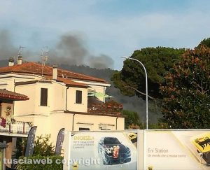 Bolsena - L'incendio in località Le Vigne