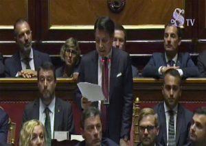 Roma - Il discorso di Conte in Senato