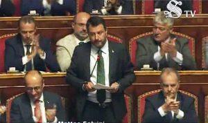 Crisi di governo - Il discorso di Matteo Salvini in Senato