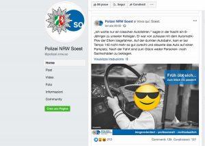 Germania - Il post su Facebook della polizia