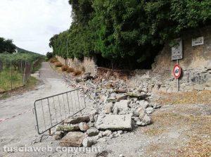 Bagnaia - Il crollo del muro di cinta di Villa Lante