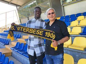 Sport - Calcio - Viterbese - Tounkara e il presidente Romano
