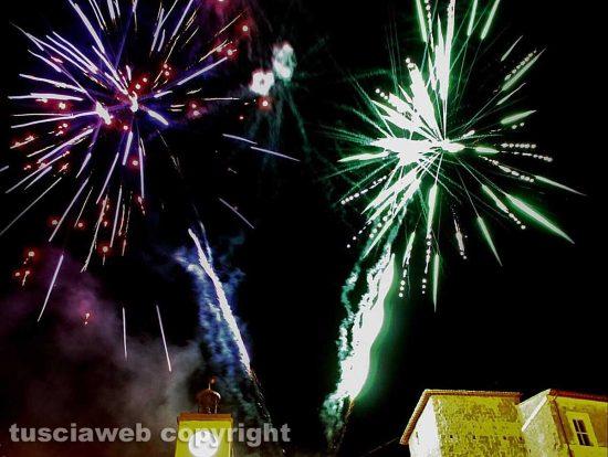 Fuochi d'artificio a Ischia di Castro