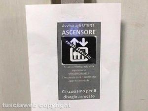 Viterbo - Belcolle - L'ascensore fuori uso