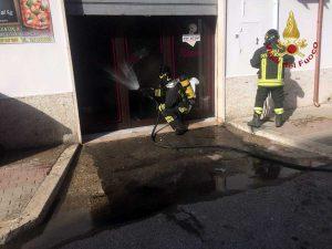 Civitavecchia - L'intervento dei vigili del fuoco