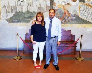 Tarquinia - Il sindaco Giulivi con Daniela Donetti