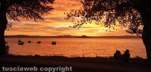 Montefiascone - Tramonto sul lago di Bolsena