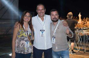 Gli assessori Silvia Nardi e Giovanni Corona e, al centro, il sindaco Sergio Caci