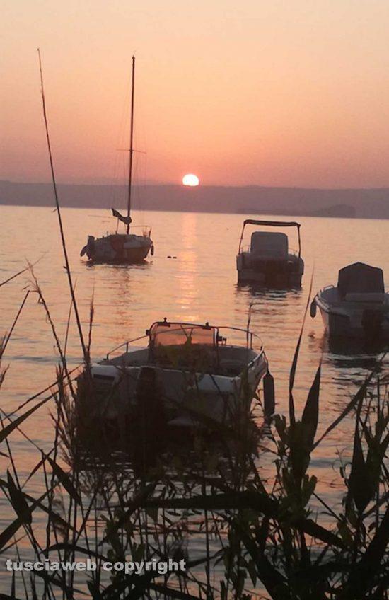 Montefiascone - Tramonto sul lago di Bolsena - Foto di Elvira Fatiganti