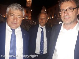 Umberto Fusco, Marco Bussetti e Giancarlo Giorgetti