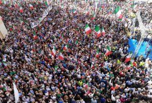 Roma - La manifestazione, indetta da Fdi, contro il governo Conte bis