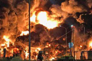Rouen - L'incendio nell'impianto chimico