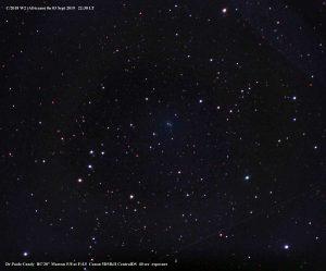 La cometa Africano durante il trasporto della macchina
