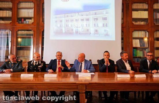 Viterbo - La firma del protocollo legalità per l'impianto di Tuscania