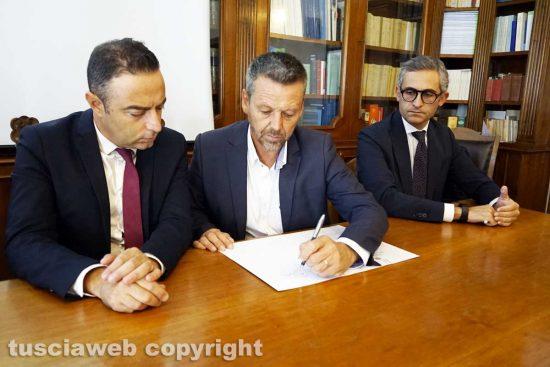 Viterbo - Pietro Nocchi, Fabio Bartolacci e Tommaso Cassata