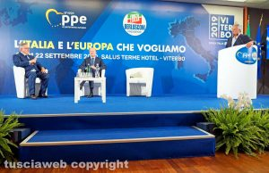 Viterbo - Paolo Liguori, Vincenzo Boccia e Antonio Tajani