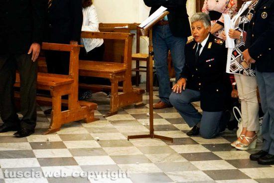 Viterbo - Lo stucco caduto dal soffitto della chiesa di Sant'Angelo