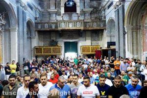 Viterbo - La prova generale dei facchini alla ex chiesa della Pace