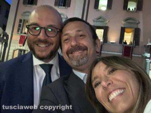 Mauro Rotelli con Andrea Delmastro Delle Vedove e Ylenja Lucaselli