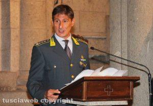 Viterbo - Il comandante provinciale delle fiamme gialle di Viterbo Andrea Pecorari