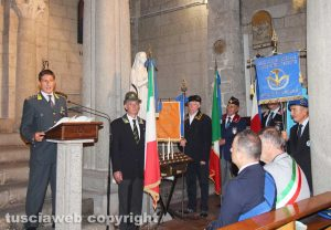 Viterbo - La cerimonia per la ricorrenza della festa del patrono della guardia di finanza
