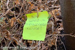 Viterbo - Il piccolo cartello in via Marconi