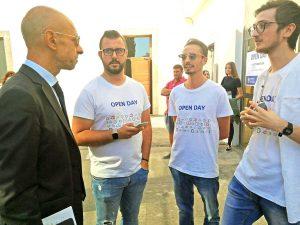 Viterbo - Alessandro Ruggieri all'open day dell'Università della Tuscia
