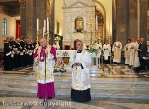 Viterbo - Festa Madonna della Quercia - Patto d'amore - Il vescovo Lino Fumagalli