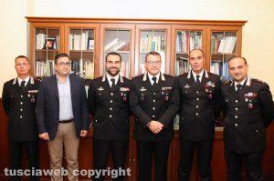 Il colonnello Giuseppe Palma con i colleghi di Viterbo