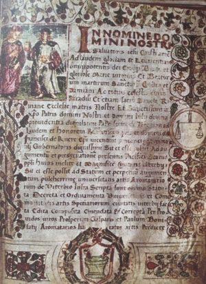 Viterbo - Lo statuto degli speziali del 1509
