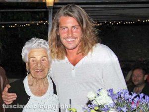 Alberto Mezzetti con la nonna Pasqualina Cianchella