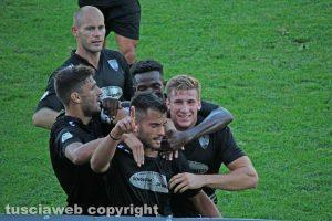 Sport - Calcio - Viterbese - L'esultanza dopo il gol di Michele Volpe