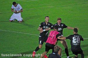 Sport - Calcio - Viterbese - L'esultanza dopo il gol di Salvatore Molinaro